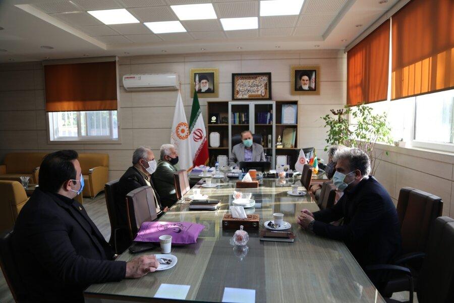 دیداراعضای هیات مدیره موسسه خیریه مهرآوران کهریزک کاسپین سرخ رود با مدیرکل بهزیستی مازندران