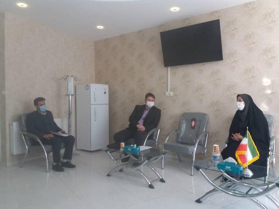 خواف | نشست هماهنگی رؤسای بهزیستی و مرکز ارتقاء سلامت شرکت فولاد سنگان