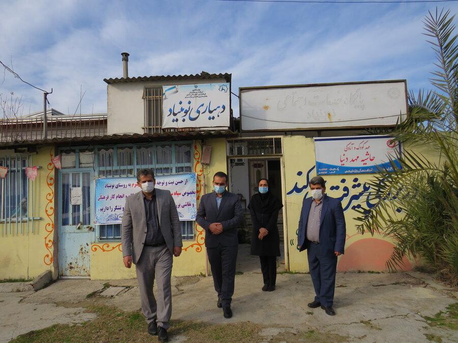 ساری  | بازدید معاون سیاسی امنیتی فرماندار شهرستان ساری از پایگاههای خدمات اجتماعی مناطق آسیب