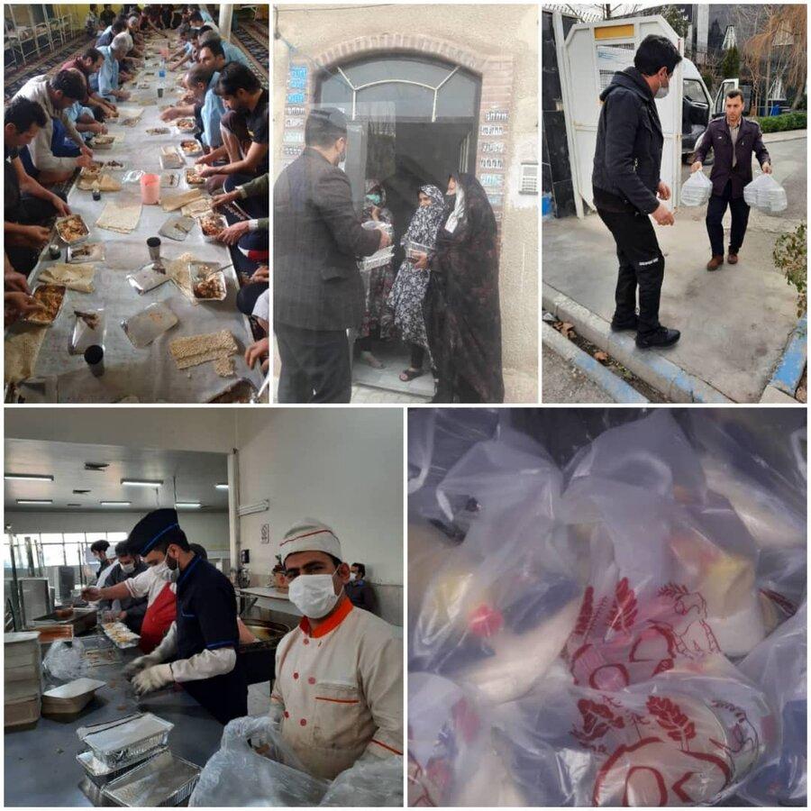 نظرآباد | تهیّه و توزیع ۴۰۰ پرس غذای گرم در شهرستان نظرآباد