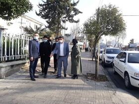 بازدید از خیابان پرستار رشت بمنظور اجرای پروژه اصلاح و مناسب سازی