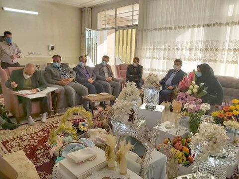 مبارکه  حضور مدیرکل بهزیستی استان اصفهان در مراسم عقد دختران خانه کودک و نوجوان امیرالمومنین علیه السلام