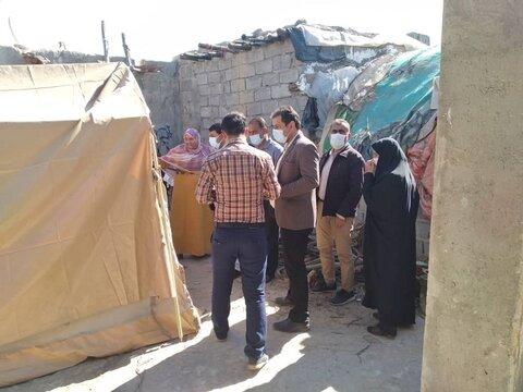بازدید از مناطق زلزله زده شهرستان بندرلنگه