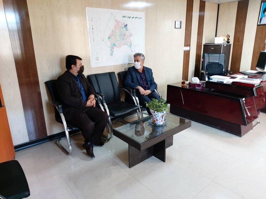 کبودراهنگ  نشست مشترک بهزیستی و اوقاف شهرستان در جهت گسترش تعامل و همکاری