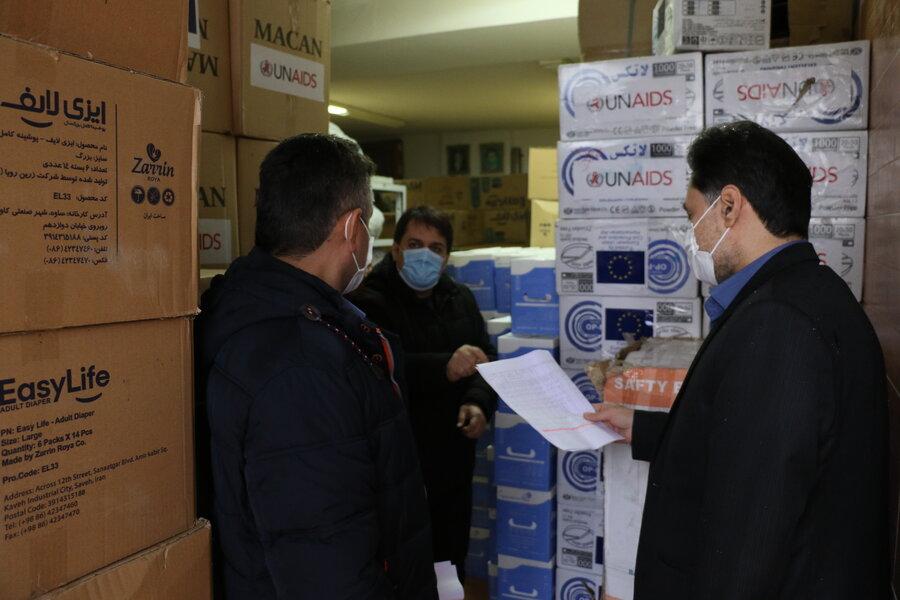 توزیع لوازم پیشگیری از بیماری کرونا جهت مراکز اعتیاد تحت نظارت اداره کل بهزیستی گیلان