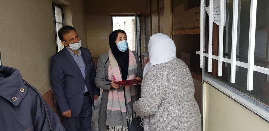 شهریار|حمایت آذوقه ای از خانواده های دارای دو معلول