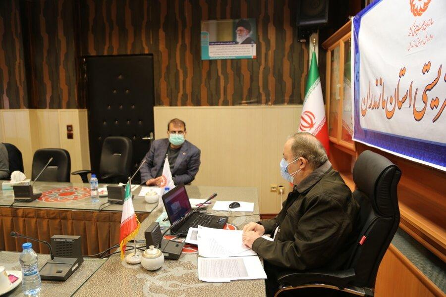 جلسه ستاد مدیریت بحران بهزیستی مازندران