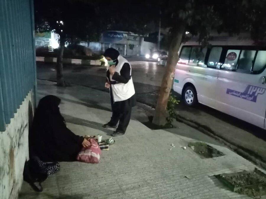 آمادهباش و گشتزنی اورژانس اجتماعی بهزیستی مازندران در شرایط بحرانی سرما و برودت هوا