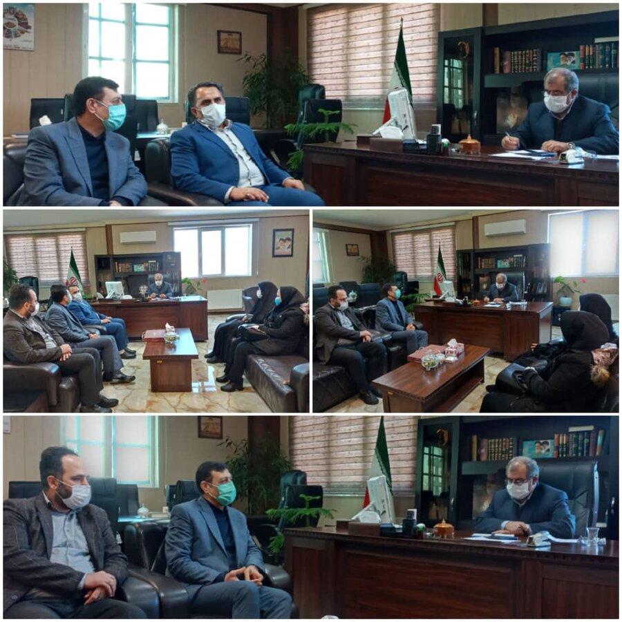 نظرآباد   نشست صمیمانه رئیس بهزیستی و فرماندار شهرستان نظرآباد
