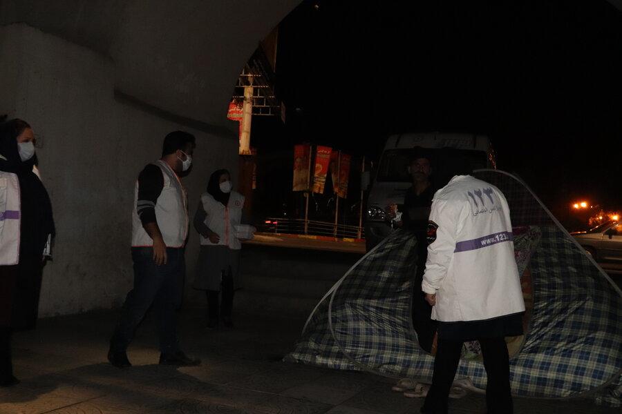 آمل   آماده باش و گشت زنی اورژانس اجتماعی بهزیستی شهرستان آمل در فصل سرما و شرایط بحرانی