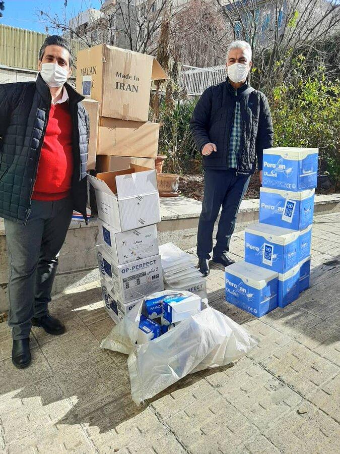 توزیع اقلام بهداشتی پیشگیری از کرونا میان افراد پرخطر