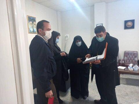 بازدید مدیر دفتر مدیریت عملکرد از ستاد بهزیستی فیروزکوه