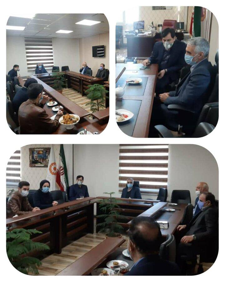 کانون خیرین اشتغال و کارآفرینی استان البرز با مدیرکل بهزیستی استان دیدار کردند