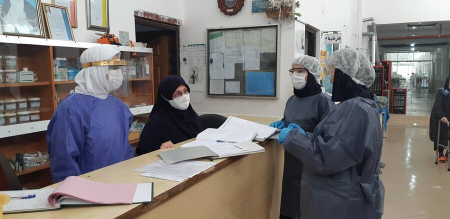 بازدید از آسایشگاه سالمندان لاهیجان جهت ساماندهی امور پیشگیری و کنترل بیمار ی واگیر کووید ۱۹