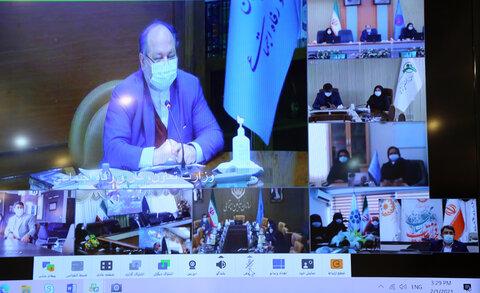 گزارش تصویری |نشست ویدیو کنفرانسی وزیر با نمایندگان بانوان شاغل در سازمان های تابعه وزارت تعاون،کار و رفاه اجتماعی