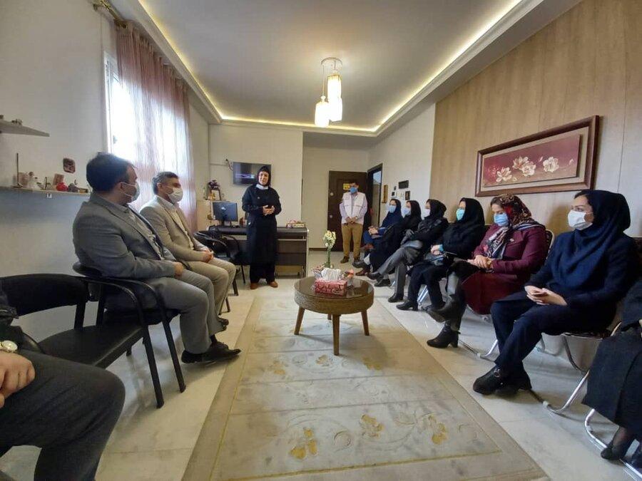 افتتاح مرکز مشاوره مهر اوا به مناسبت ایام الله دهه مبارک فجر در شهرستان بندرانزلی