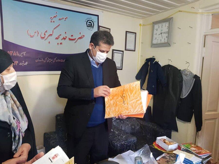 ساری ׀ بازدید مدیر بهزیستی شهرستان ساری در روز زن از مؤسسه خیریه حضرت خدیجه(س) ساری