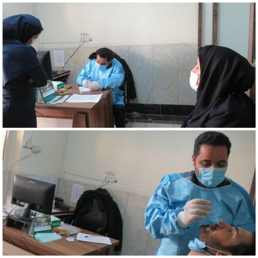 فردیس | کارکنان بهزیستی بمنظورسنجش سلامت، تست تشخیص کرونا انجام دادند