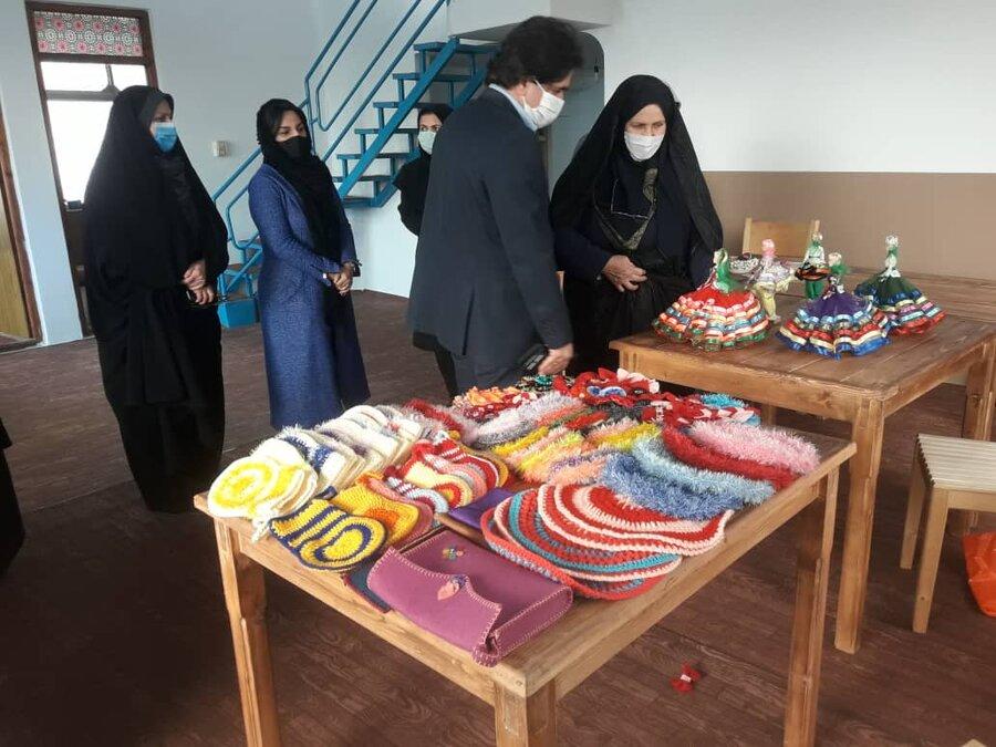 بابلسر | بازارچه تولیدات خانگی زنان سرپرست خانوار در بابلسرافتتاح شد