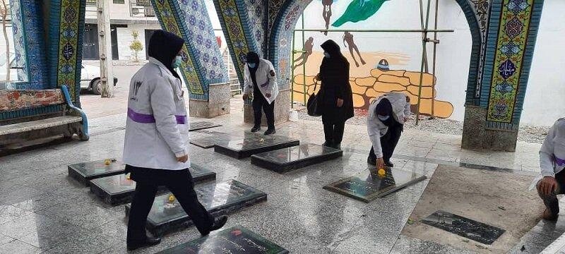 نور   ادای احترام به مقام شامخ شهدا توسط کارکنان بهزیستی شهرستان نور