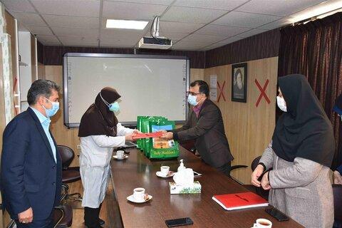 دیدار مدیران بهزیستی خراسان رضوی با پرستاران و کادر درمان بیمارستان امالبنین مشهد
