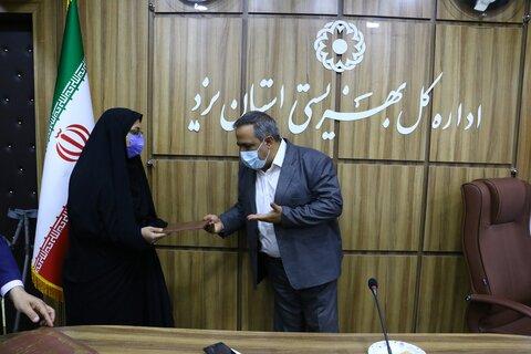 گزارش تصویری | تکریم و تجلیل از یادگاران 8 سال دفاع مقدس و تجدید میثاق با شهدا کارکنان بهزیستی استان یزد
