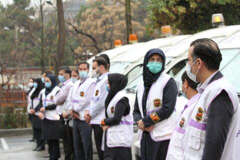 مانور اورژانس اجتماعی با شعار نه به کودکان کار برگزار شد