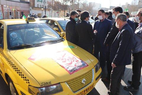 مراسم مشترک میثاق با شهدا بین سازمان تاکسیرانی و بهزیستی مشهد