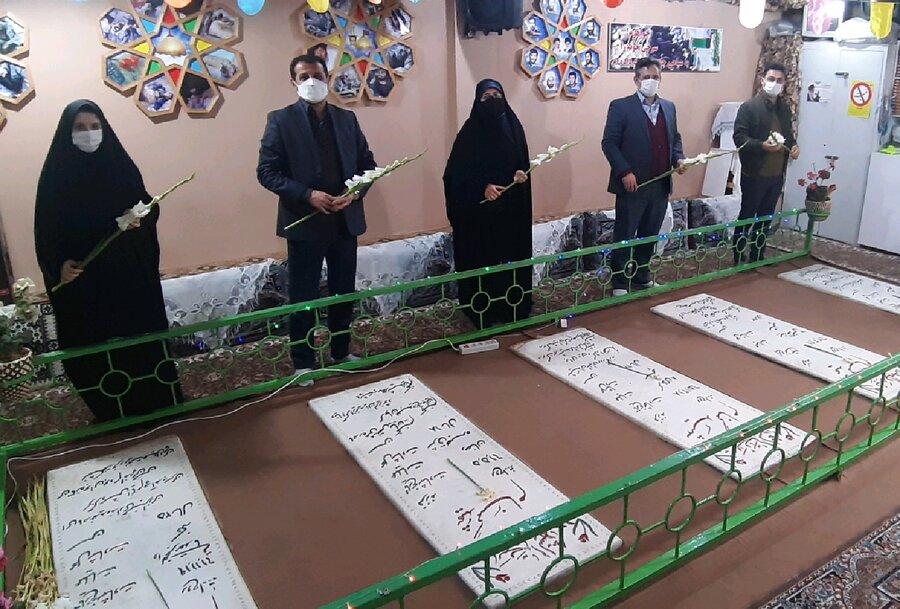 چالوس │ رئیس و کارکنان اداره بهزیستی شهرستان چالوس به شهدای گمنام ادای احترام کردند