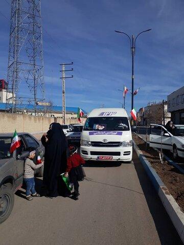 گزارش تصویری   مانور خودروهای خدمات سیار اورژانس اجتماعی ۱۲۳ بهزیستی استان قزوین همزمان با برگزاری راهپیمایی خودرويي یوم الله ۲۲ بهمن