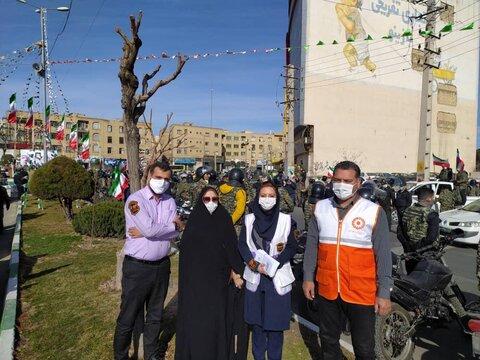 گزارش تصویری| حضور فعالانه اورژانس اجتماعی در راهپیمایی خودرویی ۲۲ بهمن