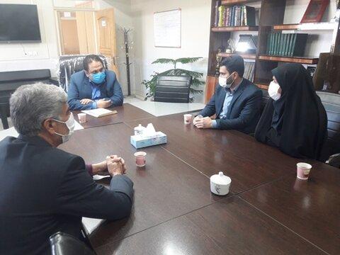چادگان| دیدار رئیس اداره بهزیستی شهرستان چادگان با شهردار جدید