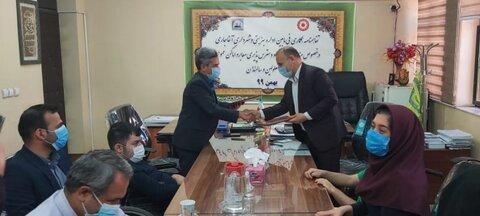 تفاهم نامه مناسب سازی معابر بین شهرداری و بهزیستی آغاجاری منعقد شد