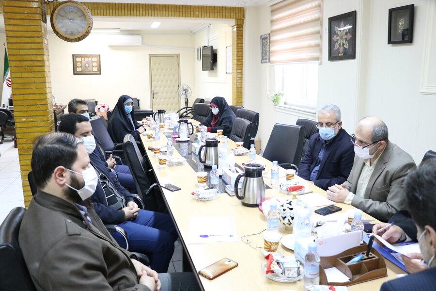 نشست مشترک شورای فرهنگی بهزیستی گیلان و سازمان بسیج هنرمندان سپاه قدس گیلان