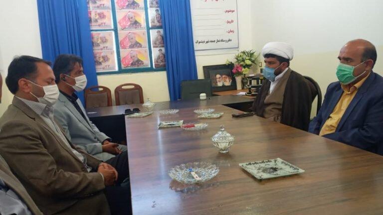 دیدار رئیس اداره بهزیستی شهرستان کهگیلویه با امام جمعه و بخشدار دیشموک