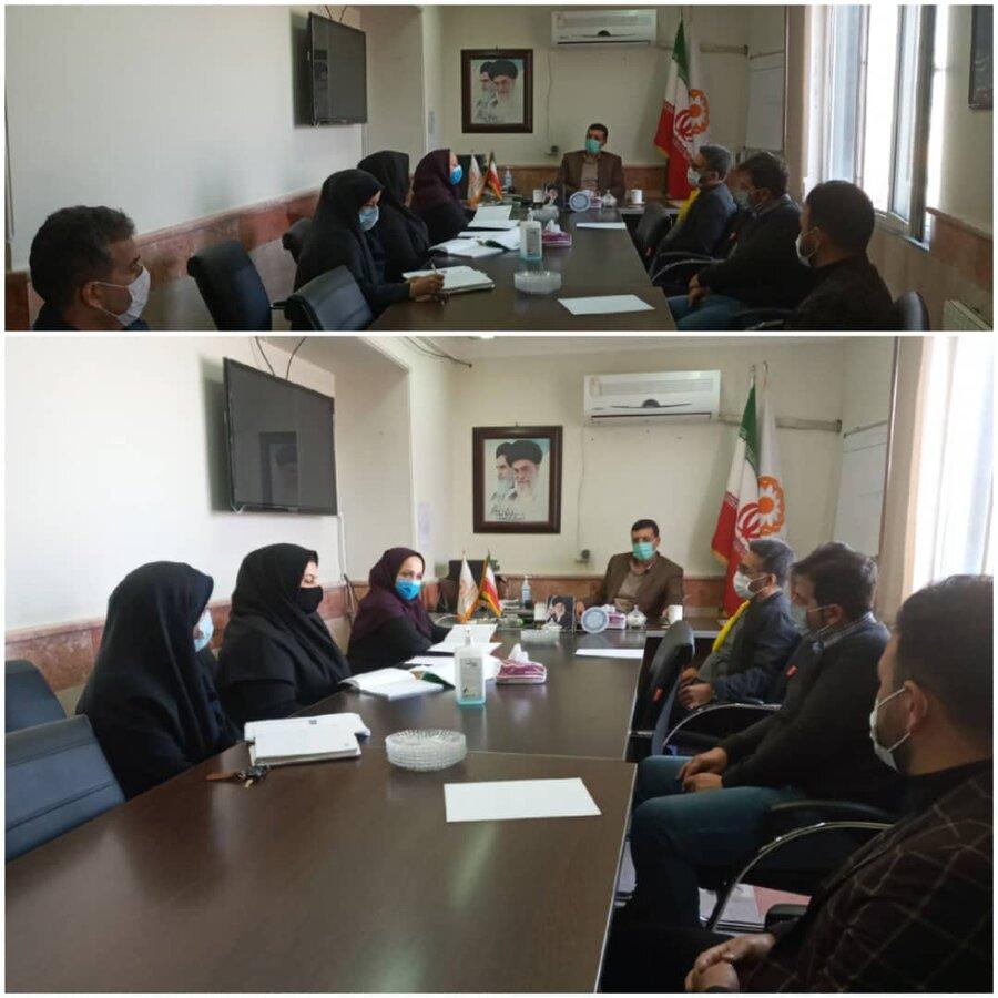 نظرآباد | نشست رئیس بهزیستی نظرآباد و مدیران مراکز اقامتی