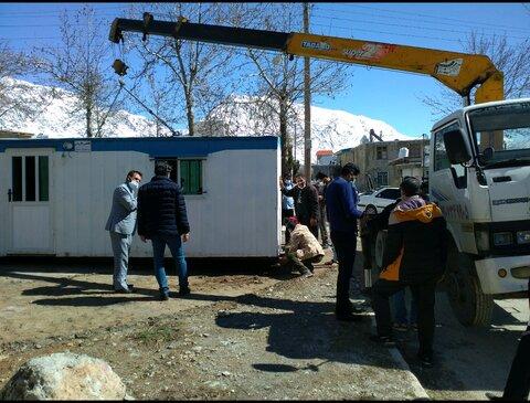 تحویل کانکس به مددجویان آسیب دیده از زلزله