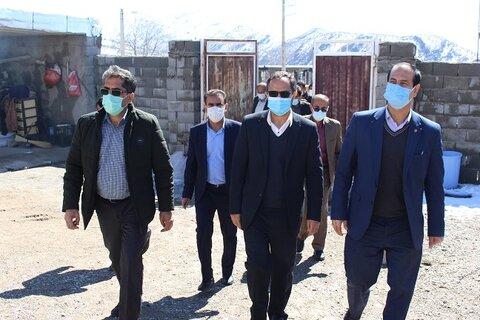 گزارش تصویری| بازدید میدانی دکتر کاظم زاده از مناطق زلزله زده