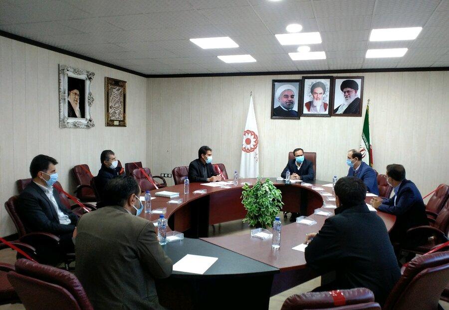 تشکیل جلسه ستاد بحران بهزیستی استان باحضور جناب آقای کاظم زاده در پی زلزله شهرستان دنا