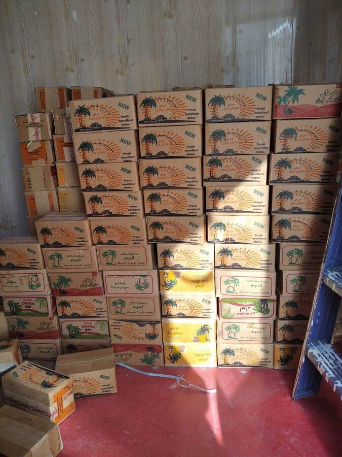 تنگستان پیش از۱۷۰۰ کیلو خرما ازطرف نخلدارن به ممدجویان بهزیستی اهدا شد