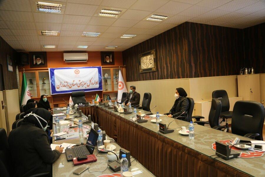برگزاری جلسه نیازسنجی آموزشی مشاغل عمومی، تخصصی و بهبود مدیریت در بهزیستی مازندران