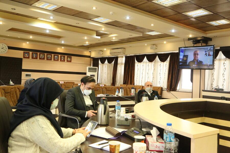 جلسه بررسی ارائه خدمات حمایتی به بیماران اتیسم