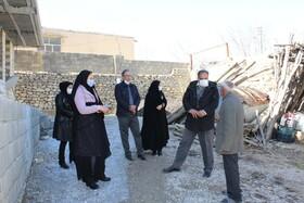 سمیرم|حضور مدیر کل بهزیستی استان اصفهان در مناطق زلزله زده سمیرم