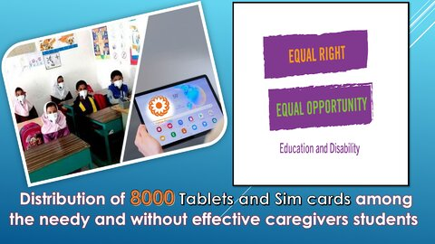 8000Tablets and Sim cards distributed among under coverage students of SWO