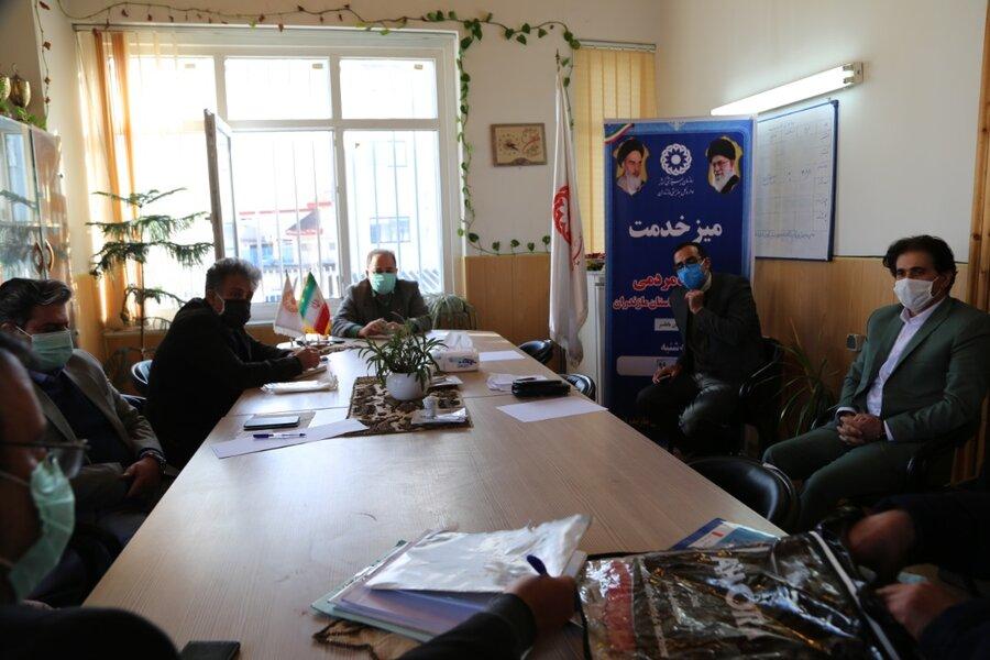 ارتباط مدیر کل بهزیستی مازندران با جامعه هدف در شهرستان بابلسر