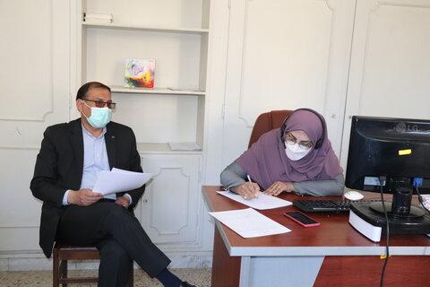 گزارش تصویری| پاسخگویی مدیر کل بهزیستی استان از طریق سامانه سامد