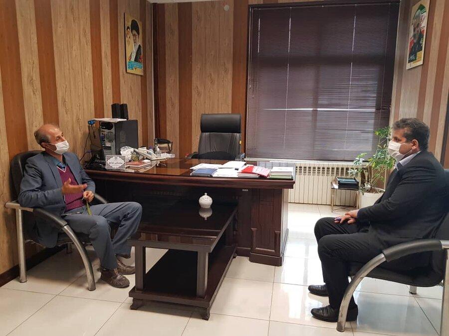 ساری / نشست تعاملی مدیر بهزیستی شهرستان ساری و رئیس انجمن ام اس استان مازندران برگزار شد