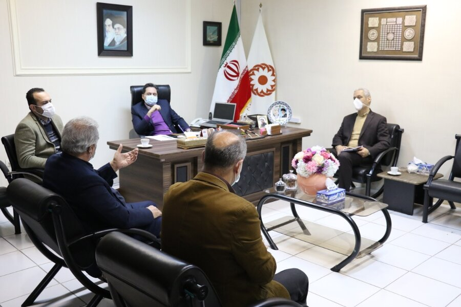 دیدار مدیرکل بهزیستی استان با اعضای تیم والیبال نشسته جانبازان و معلولین گیلان