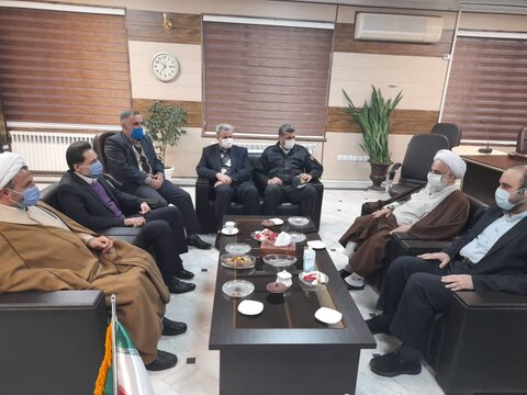دیدار مدیرکل بهزیستی گیلان با فرماندار  و امام جمعه شهرستان رودسر