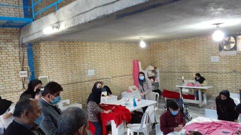 کارگاه تولید و ساخت عروسک توسط معلولان مورد بازید معاون بهزیستی کل کشور قرار گرفت